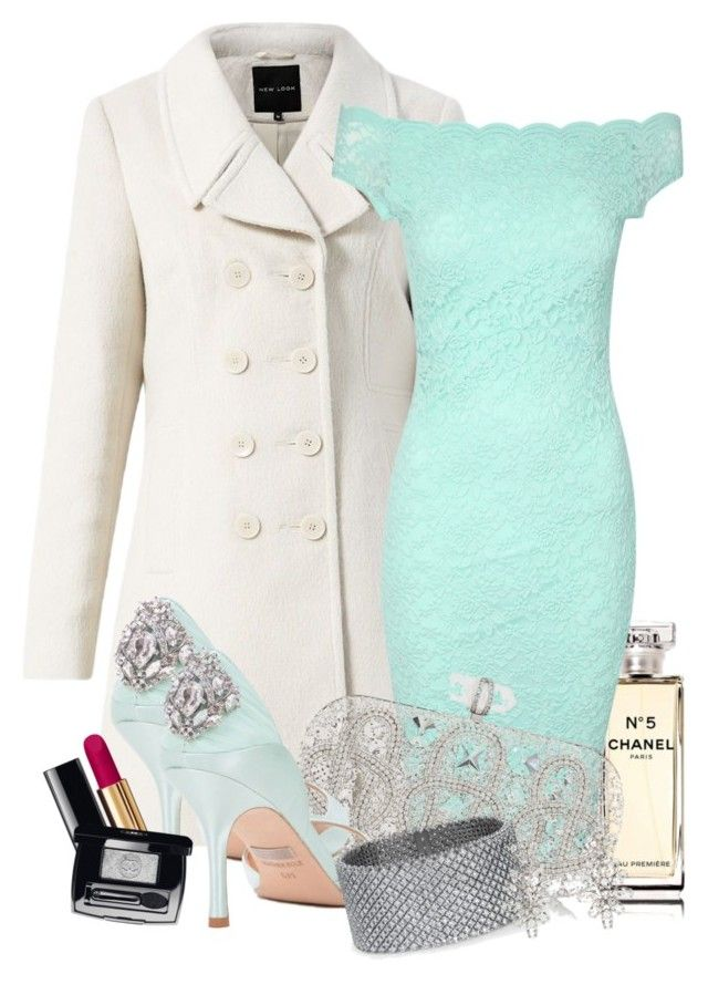 party by nadinealmshhdany on Polyvore featuring polyvore fashion style Jane Norman Marchesa Blue Nile Oscar de la Renta Chanel