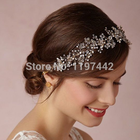 Silver plated tiara luxury bridal headband handmade headdress wholesale pearl jewelry wedding crowns hair accessories