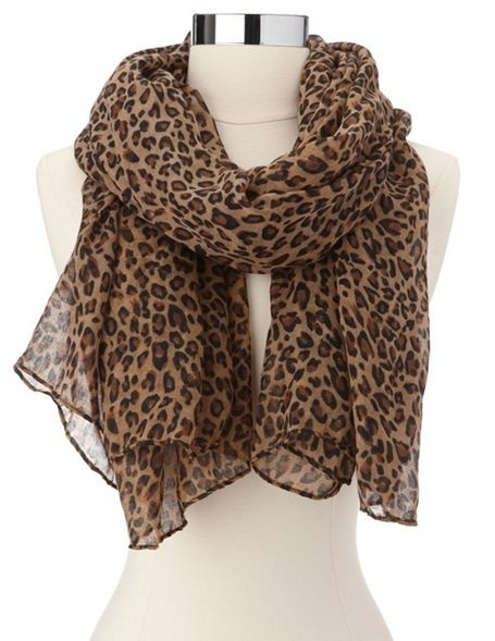 Lightweight Leopard Print Scarf: Charlotte Russe