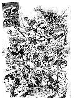 #MikeZeck, que também está de aniversário hoje. Zeck tem um estilo mais natural -- foi assistente de Wally Wood na década de 70, e a influência se nota. Além de criar o uniforme negro do Homem-Aranha [como desenhista de Guerras Secretas; a primeira versão da capa da primeira edição, ainda na versão em lápis, é a imagem da postagem], Zeck é conhecido pela sua parceria com #StevenGrant [Justiceiro: Retorno ao Grande Nada] e por A Última Caçada de #Kraven [com J. M. DeMatteis].