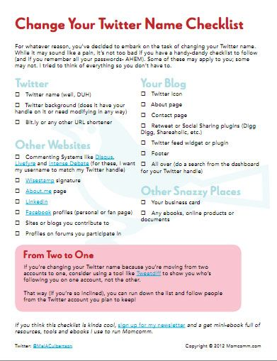 Twitter Name Change Checklist- if you ever decide to change your Twitter handle.: Blog Soci Media, Twitter,  Website, Social Media, Bloggi Stuff, Blog Stuff, Media Marketing, Media Maven, Names Changing Checklist