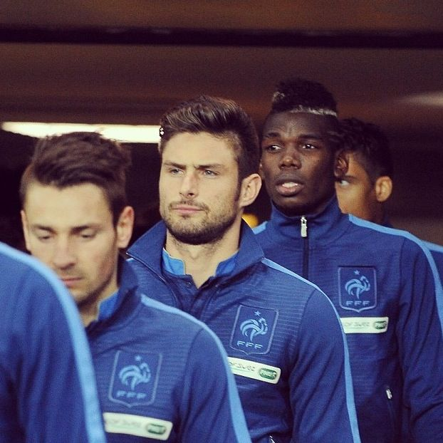 Oliver Giroud and Pogba France national football team