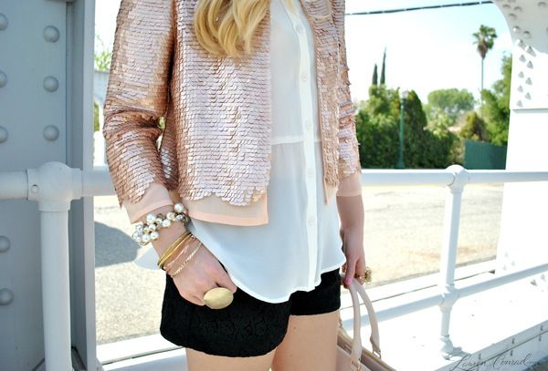 jacket by Paper Crown, short and shirt by LC Lauren Conrad for Kohl's