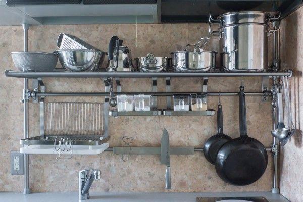 イケアハック:GRUNDTAL水切り棚を壁に固定せずに設置する方法