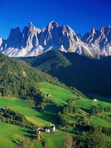 ...St. Magdalena Kalian Italian Dolomites