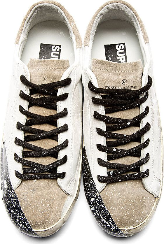 Golden Goose Mens Superstar Bespoke Sneakers in Black - Golden Goose Outlet