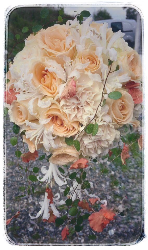 Peach Avalanche roses , carnations  and nerines 🌸