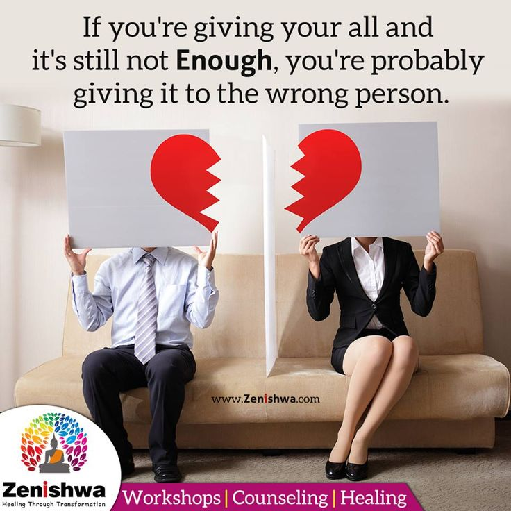 If you're giving your all and it's still not enough, you're probably giving it to the wrong person.  Having a Difficult relationship? Let's talk! Call us on 70699 22200 and learn how we can help you. :)