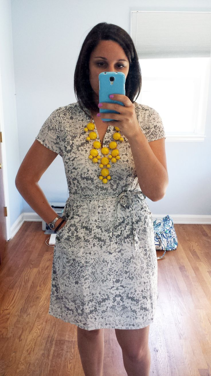 Stitch Fix stylist: so many things I love about this dress--it has sleeves! love the pattern and style and pockets. My only concern would be if it was too short?