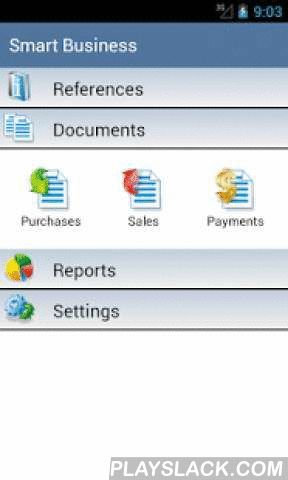 SmartBiz- Invoice & Accounting  Android App - playslack.com , Smart Business the most complete and invoice app on Android. It intended for accounting of goods and debts. Contains all the essential business operations. Invoices, Payments. Products and services. Purchasing and sales, money incomings and expences, customers orders.You can create your own references of goods, contractors, stockrooms, various categories of prices. Use Purchase and Sale documents to account goods , create Payment…
