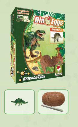 DINO EGGS - STEGOSAURUS  Descobre: - O habitat dos dinossauros - O que é a paleontologia - Que tipos de fossilização existem - As causas de extinção dos dinossauros - Características e curiosidades destes fantásticos seres pré-históricos