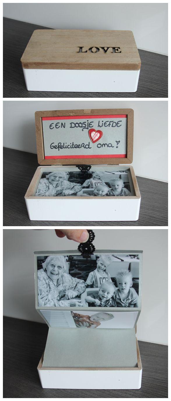 Een doosje gevuld met liefde! Een leuke originele én manier om je foto's te…