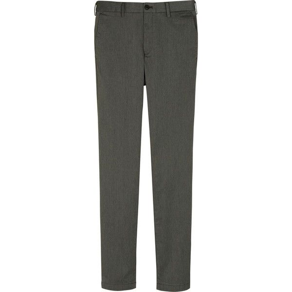 UNIQLO Men's Slim Fit Chino Flat Front Pants ($40) ❤ liked on Polyvore featuring men's fashion, men's clothing, men's pants, men's casual pants, grey, mens stretch pants, mens chinos pants, mens gray pants, mens pants and mens slim fit chino pants