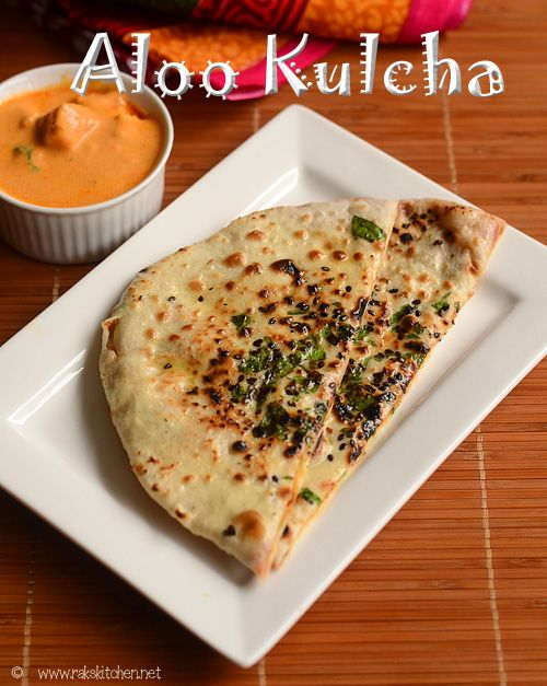 Aloo kulcha full video recipe also with step by step pictures. Aloo kulcha is an Indian flat bread made with all purpose flour, stuffed with spiced potato mix.