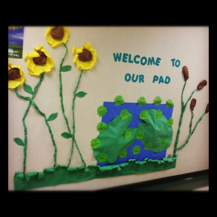 Bulletin Board Ideas With Frogs: Welcome Bulletin Board-frog Themed