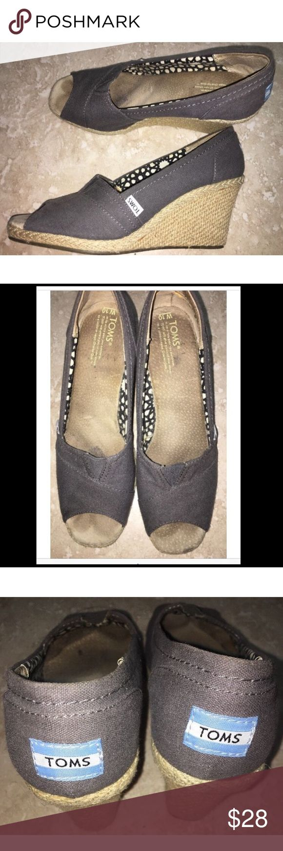 TOMS Women's Size 10 Blue Gray Wedge Shoes Tom's TOMS Women's Size 10 Blue Grey Gray Wedge Shoes Tom's TOMS Shoes Wedges