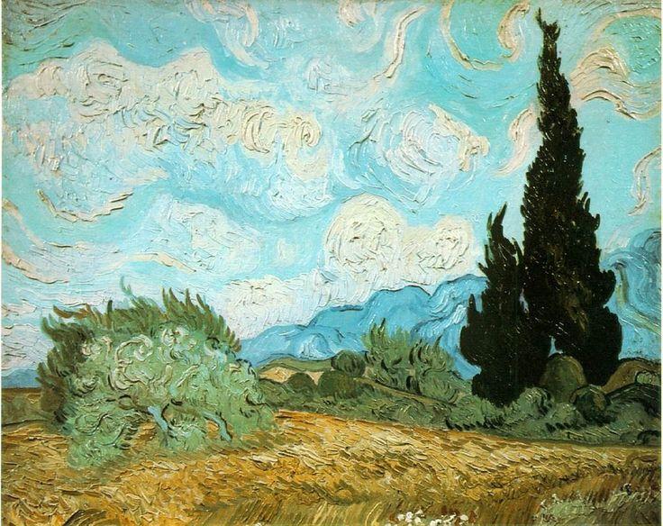Винсент Ван Гог. Пшеничное поле с кипарисом