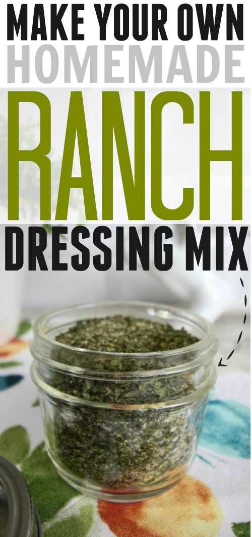 She makes her own ranch dressing mix! Must try this one!