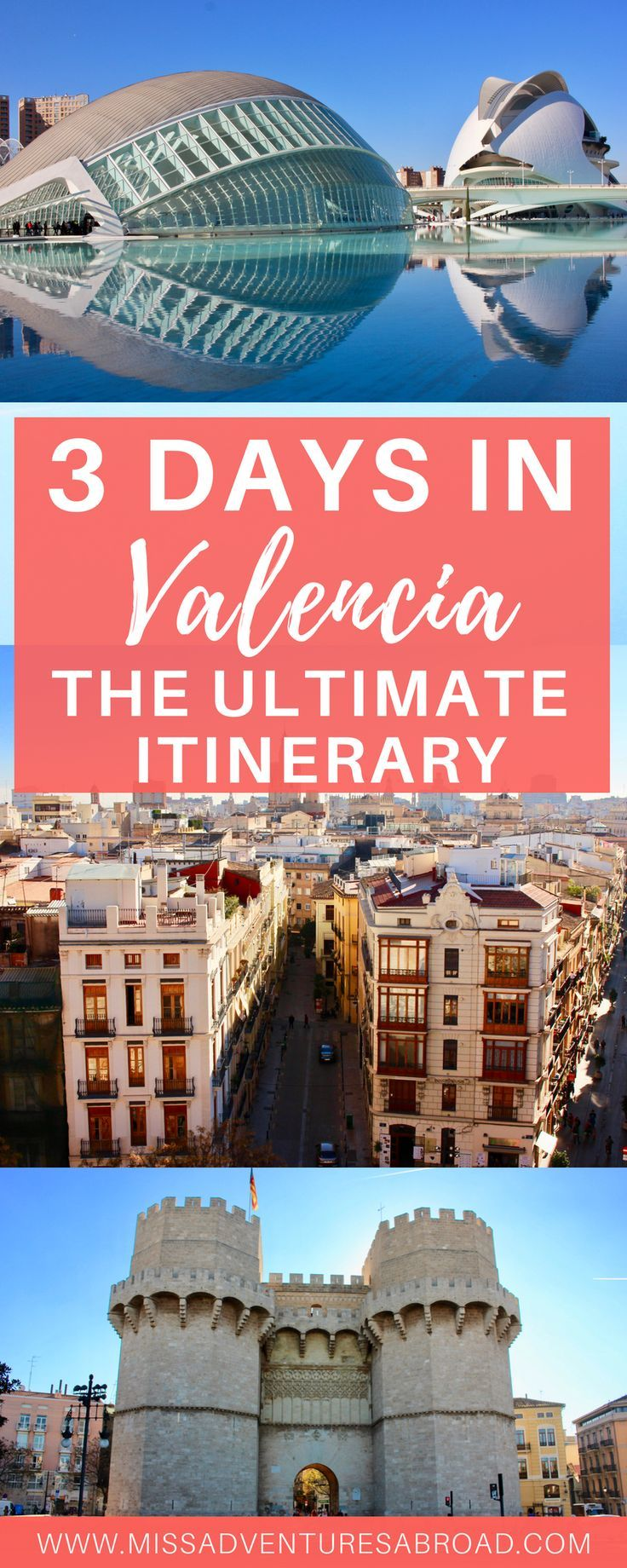 How to Spend 3 Perfect Days In Valencia: The Ultimate Weekend Itinerary · Discover how to spend the perfect weekend in Valencia, Spain with this epic itinerary! Explore the City of Arts and Sciences, visit the city's most historic sites, try some famous Valencian paella, hit the beach, and more! There is something for everyone in this incredible city!