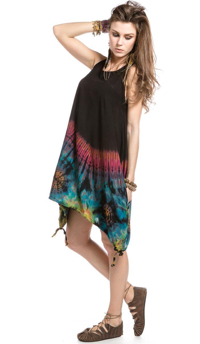 летнее платье, одежда в этническом стиле, одежда из Индии, тай-дай, бохо стиль, хиппи, индийское платье, boho, hippie, Dress India, tie-dye, ethnic clothing. 3640 рублей