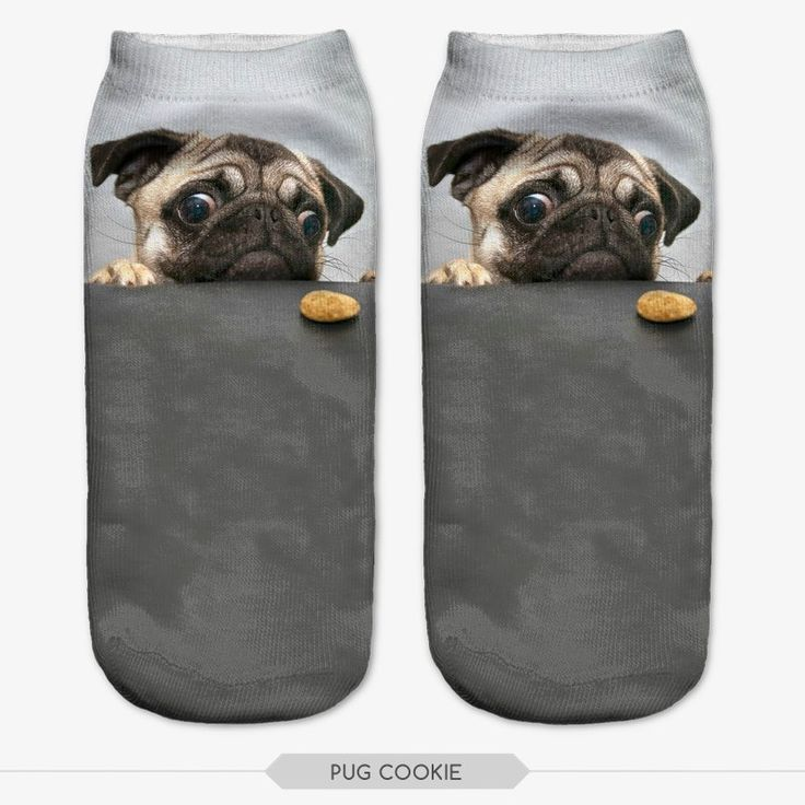 Pug 3D Print Socks