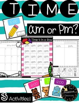 Time AM or PM? 3 Activities! 50% OFF for 48 Hours!!!