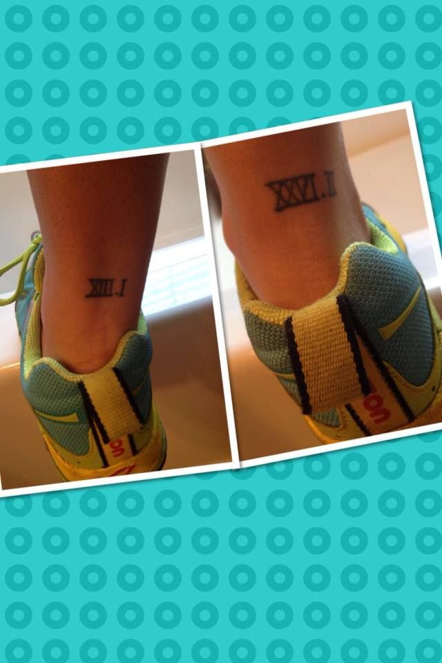 Half and Full Marathon Tattoos