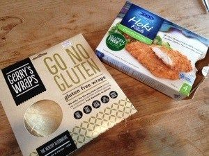NZ #GlutenFree Blogger Being Gluten Free in NZ reviews Gerry's #GoNoGluten Wraps while making something for dinner