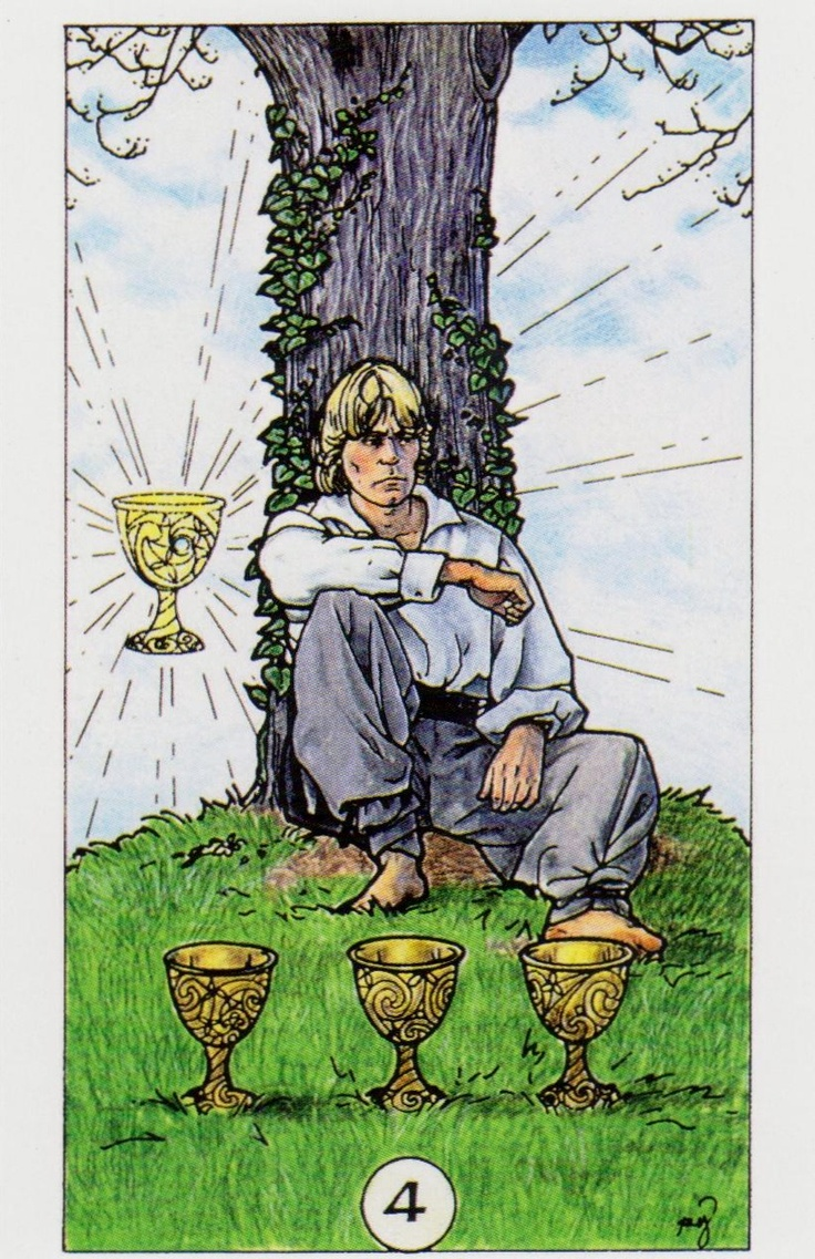 Card Of The Day: Four Of Cups From Robin Wood Tarot