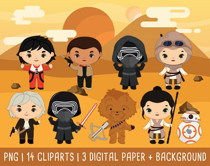 20% OFF Star wars Clipart, Disney Star Wars clip art, The Force Awakens clipart, kylo ren, star wars party, Instant Download PNG 300 - dpi