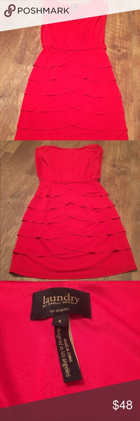 ✨ Red Laundry by Shelli Segal Dress ❤️ ✨ PERFECT for Valentines Day - Red Laundry by Shelli Segal Dress Size 4 Laundry by Shelli Segal Dresses