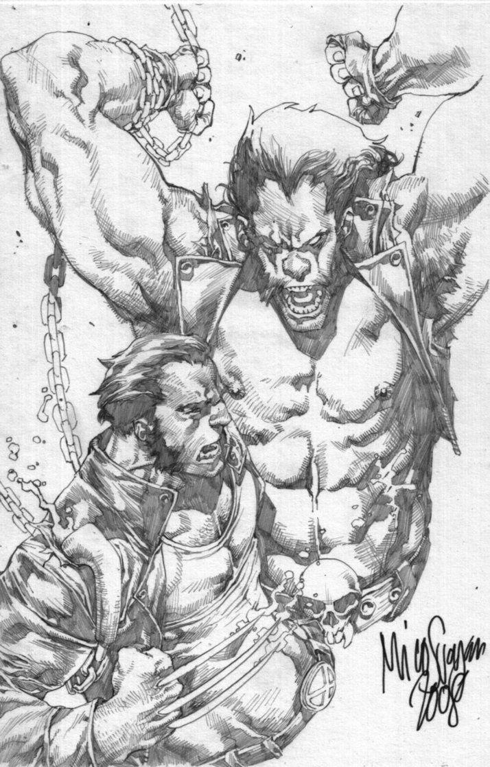 Wolverine vs. Lobo by Mico Suayan