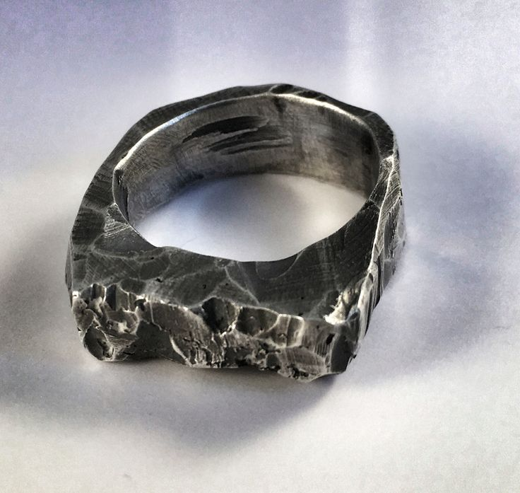 Cast silver ring  www.rwlondon.com