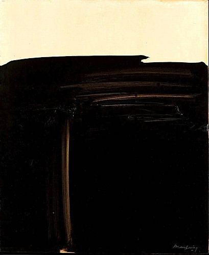 André MARFAING (1925-1987)  JUILLET 1975-30, 1975  Huile sur toile  signée en bas à droite  Hauteur : 61,50 Largeur : 50,50 cm