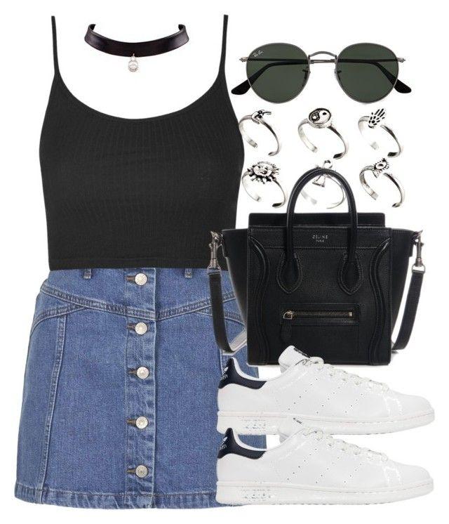 """Style  #10961"" by vany-alvarado ❤ liked on Polyvore featuring Ray-Ban, Topshop, ASOS and adidas Originals"