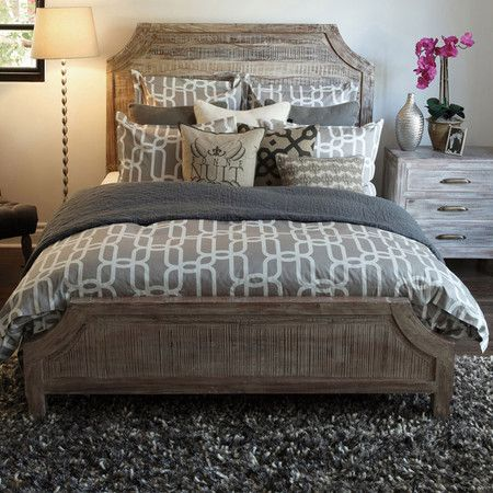 Amelie California King Acacia Bed - nice neutral yet masculine color scheme