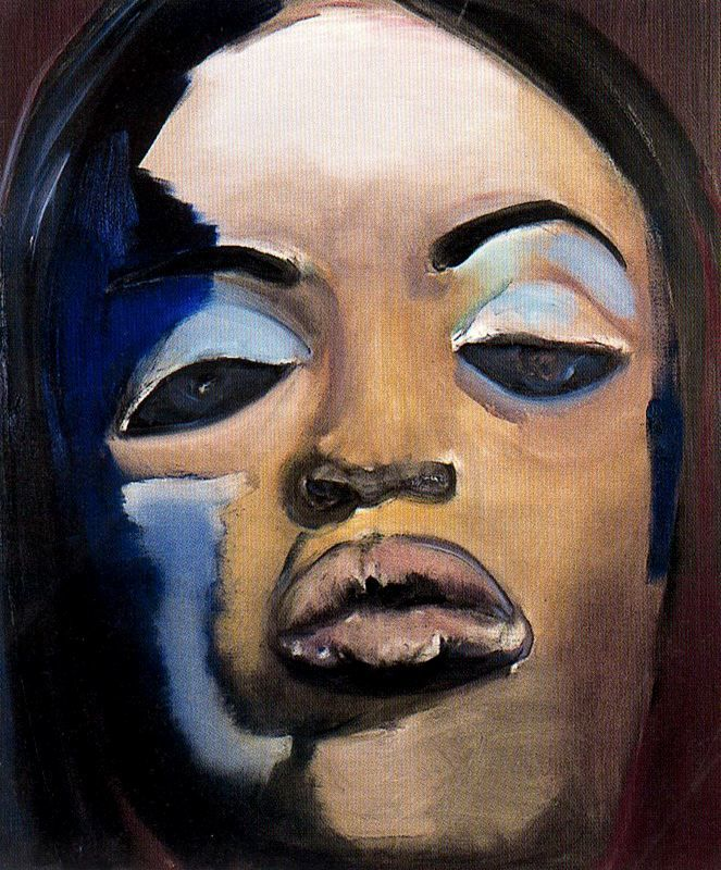 Naomi - 1995 - Painting by Marlene Dumas (South African, b. 1953) - Marlene Dumas Private Collection