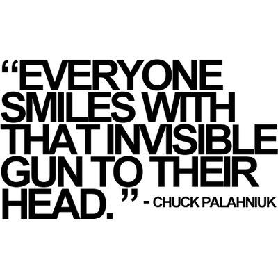 Chuck Palahniuk-just recently became one of my favorite contemporary artist