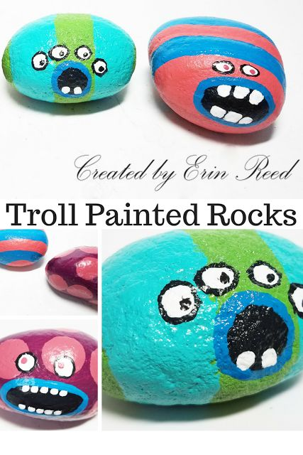 Troll Monster Rocks - Inspired by the Movie Trolls - Art Abandonment