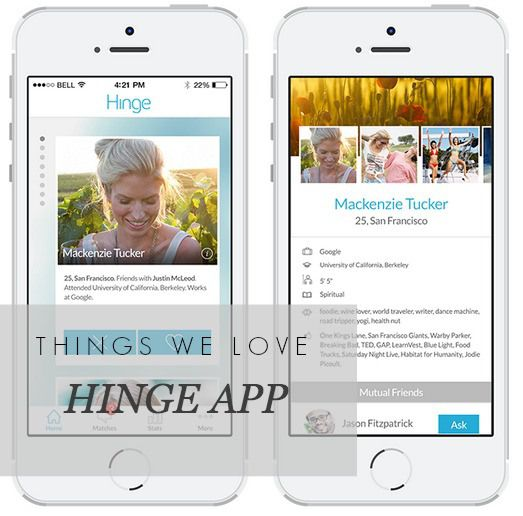 Things We Love: Hinge app - thatworkinggirl.com