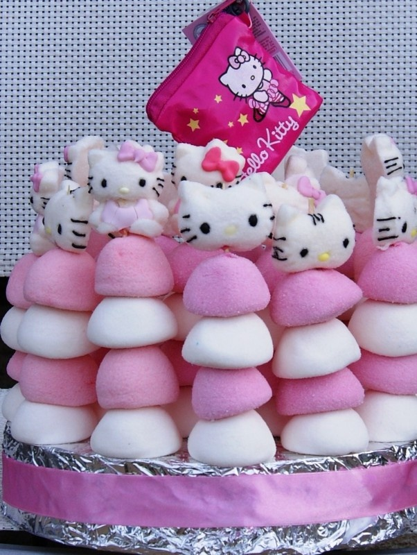 HELLO KITTY MARSMALLOW TAART 18 pers