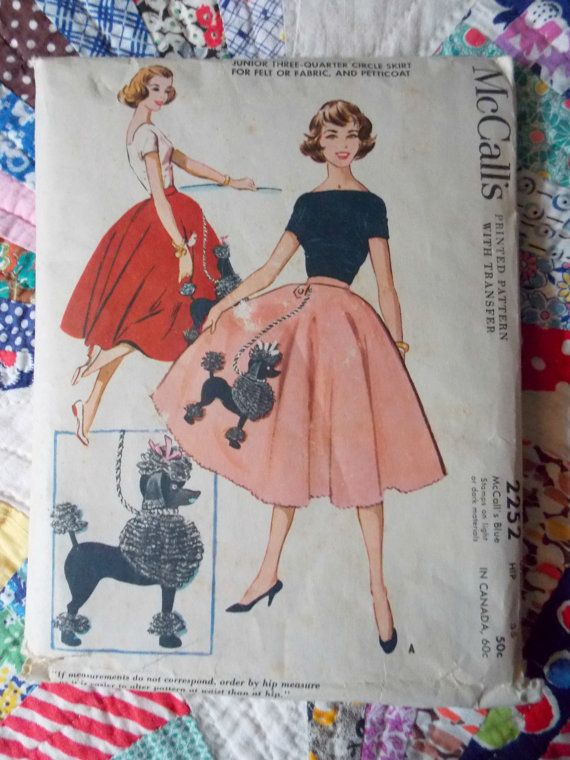 Vintage 50s Poodle Skirt Petticoat Sewing By DelightfulHandwork