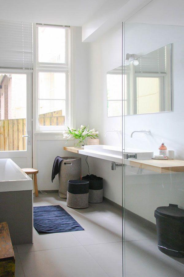 25 beste idee n over scandinavische badkamer op pinterest moderne badkamers modern - Deco mozaieken badkamer ...