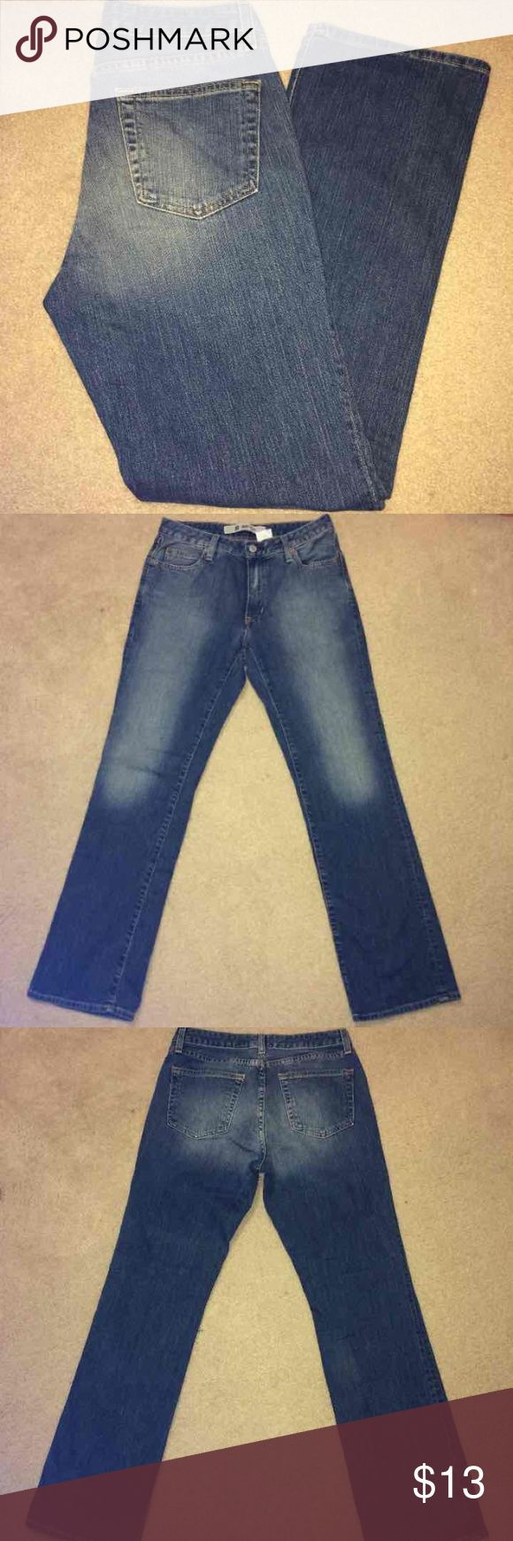 Gap Boot Cut Stretch Blue Jeans Gently worn. Women's size 8 Regular Gap Boot Cut Stretch Blue Jeans. No rips, stains or tears. Non smoking home.   Look forward to working with you! GAP Jeans Boot Cut