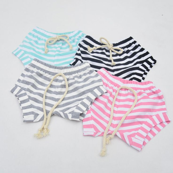2016 Newest Baby Kids Lovely Striped Cotton Shorts Newborn Infant Baby Girls Summer Bottoms Bloomers Hot Pants Casual Shorts