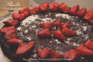 flour less, refined sugar free chocolate cake