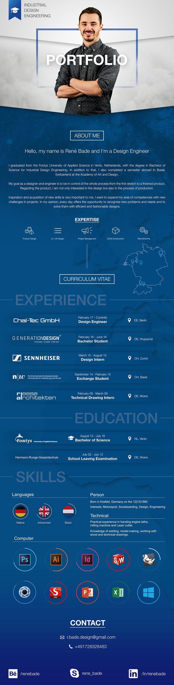 Portfolio Curriculum Vitae on Behance