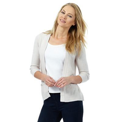 Maine New England Cream ribbed insert cardigan | Debenhams