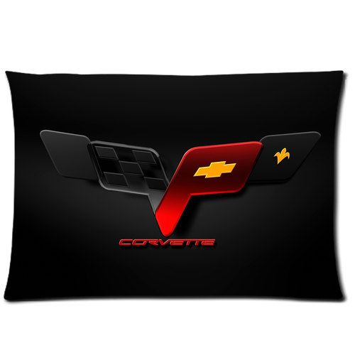Corvette Sport Car 2 Side Rectangle Pillow Case Devon