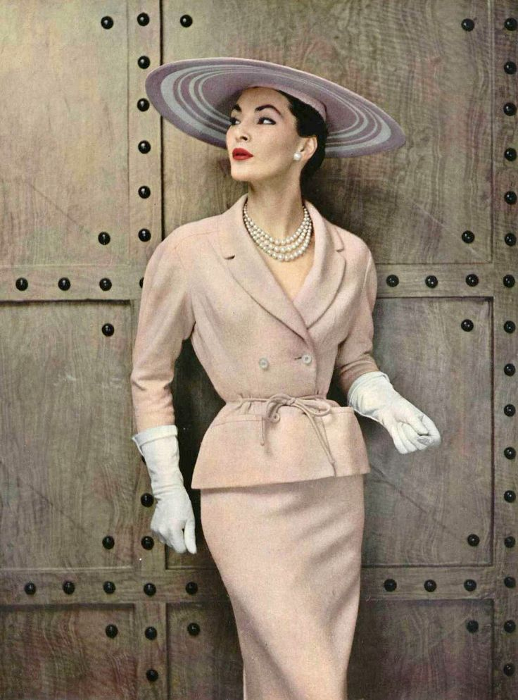 Pierre Balmain Wool Suit, photo by Philippe Pottier, 1954 #NCStateGLM
